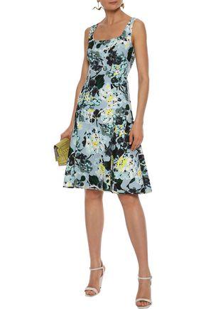 ERDEM Tate fluted floral-print crepe dress