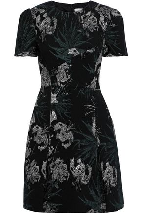 ERDEM Aubrey brocade mini dress
