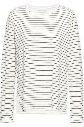 MAJESTIC FILATURES Striped fleece top
