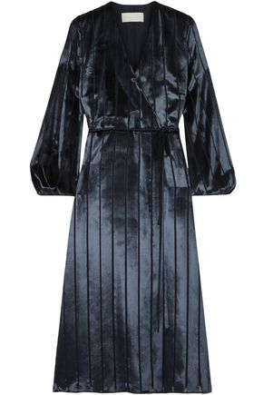 MICHELLE MASON Velvet wrap dress