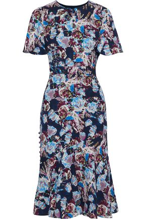 PRABAL GURUNG Printed silk crepe de chine midi dress