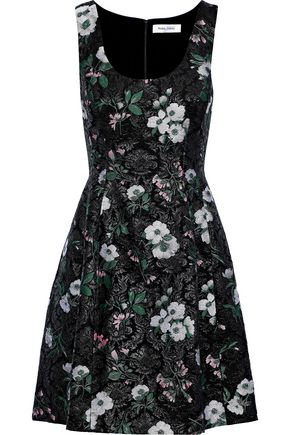 PRABAL GURUNG Flared brocade mini dress