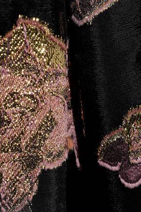 ERDEM Effie metallic fil coupé organza dress