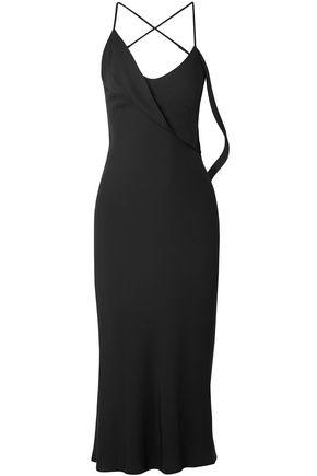 MICHELLE MASON Open-back draped cady midi dress