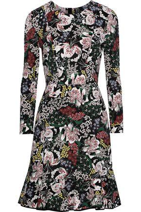 ERDEM Judy floral-print stretch-crepe mini dress