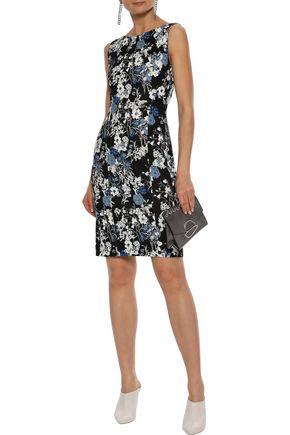 ERDEM Peyton floral-print stretch-crepe mini dress