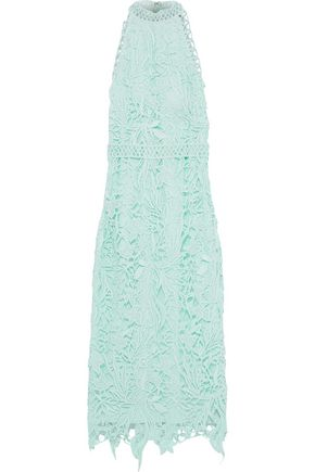 COSTARELLOS Guipure lace midi dress