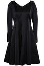 EMPORIO ARMANI Flared satin dress