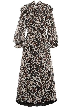 SONIA RYKIEL Leopard-print silk-chiffon midi dress
