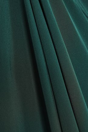 KITX Draped silk-satin midi dress