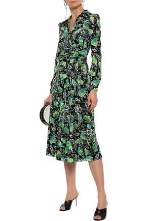 DIANE VON FURSTENBERG Phoenix floral-print stretch-mesh wrap dress