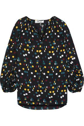 54d83100049af3 DIANE VON FURSTENBERG Maple gathered polka-dot crepe de chine blouse