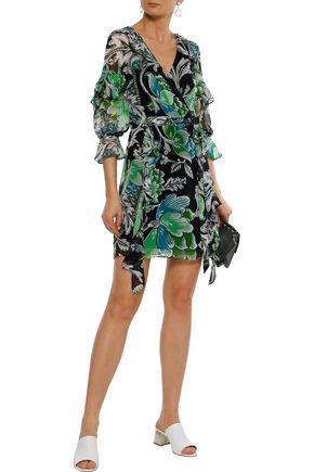 b09906a85dbda DIANE VON FURSTENBERG Marianna printed silk-georgette mini wrap dress