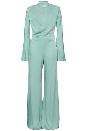 LES HÉROÏNES by VANESSA COCCHIARO Wrap-effect satin-crepe jumpsuit