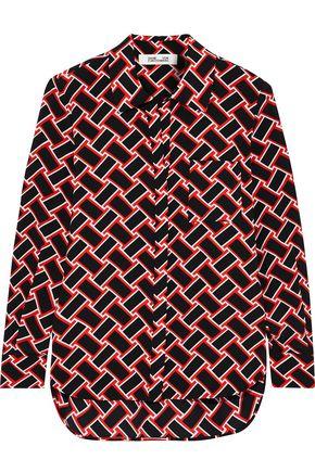DIANE VON FURSTENBERG Carter printed silk crepe de chine shirt