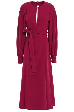 PROENZA SCHOULER Pleated textured-crepe midi dress