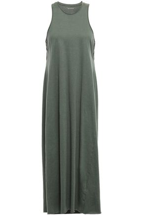 KITX Cutout cotton and hemp-blend jersey midi dress