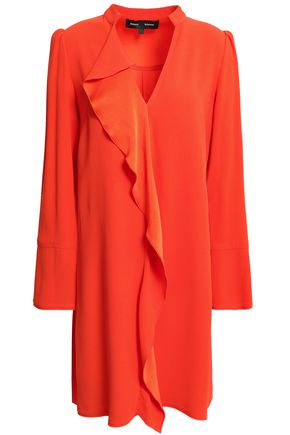 PROENZA SCHOULER Draped satin-crepe mini dress