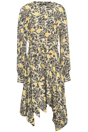 PROENZA SCHOULER Asymmetric printed crepe dress