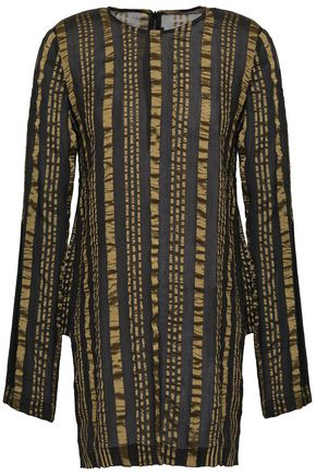 KITX Striped silk-blend crepe de chine tunic