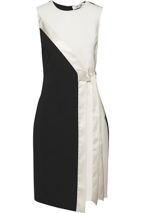 DIANE VON FURSTENBERG Lindsey wrap-effect satin-trimmed ponte dress