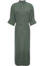 JOSEPH Barker belted washed-silk midi shirt dress