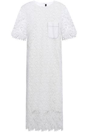JOSEPH Ellis guipure lace midi dress