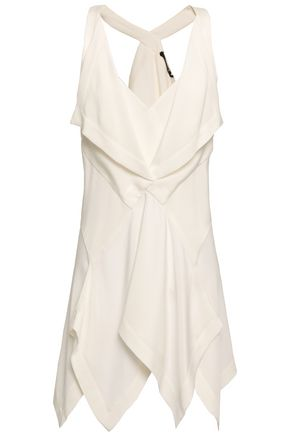 KITX Silk crepe de chine draped top