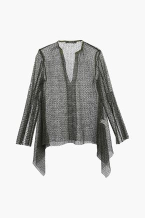 KITX Open-knit cotton-blend blouse