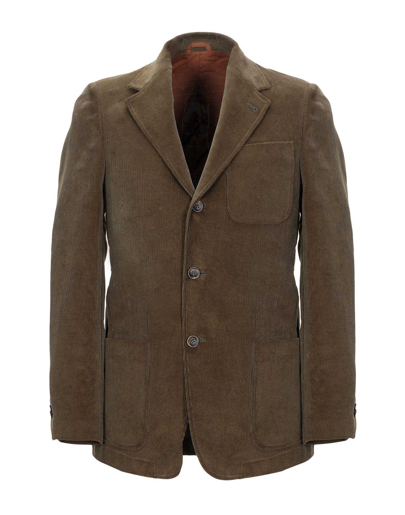 《セール開催中》PRESIDENT'S メンズ テーラードジャケット ミリタリーグリーン M コットン 100%