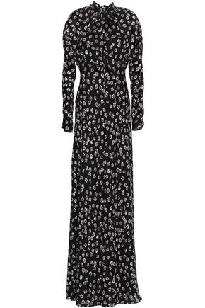 TORY BURCH Diane floral-print silk-crepe maxi dress