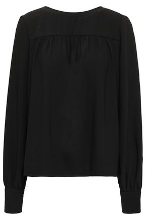 PROENZA SCHOULER Gathered textured-crepe top