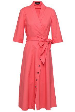 SALONI Mae B cotton-blend poplin midi wrap dress