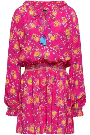 SALONI Ali floral-print silk crepe de chine mini dress