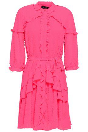 SALONI Tilly ruffled fil coupé mini dress
