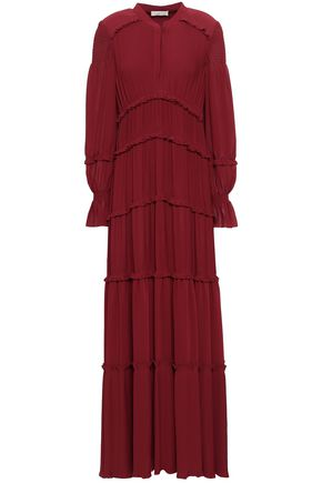 TORY BURCH Tiered crepe maxi dress