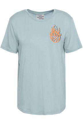 BAUM UND PFERDGARTEN Embroidered stretch-jersey T-shirt