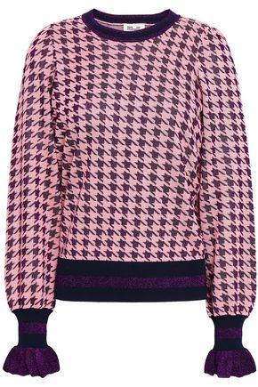 BAUM UND PFERDGARTEN Houndstooth jacquard-knit top