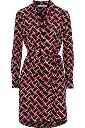 DIANE VON FURSTENBERG Prita printed silk crepe de chine mini shirt dress