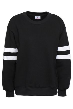SUNDRY Striped French cotton-terry sweatshirt