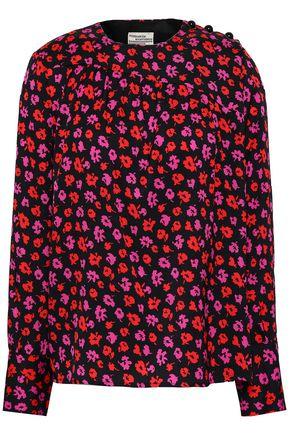 BAUM UND PFERDGARTEN Floral-print stretch-silk twill blouse