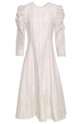 ULLA JOHNSON Fontaine cotton and silk-blend organza midi dress