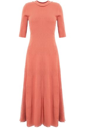 PROENZA SCHOULER Fluted ribbed stretch-knit midi dress