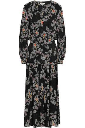 ISABEL MARANT ÉTOILE Gathered printed crepe de chine midi dress