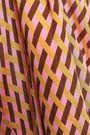 BAUM UND PFERDGARTEN Shirred crepe de chine midi dress