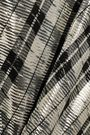 GANNI Checked metallic silk-blend midi wrap dress