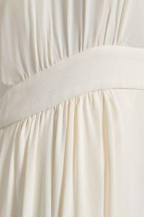 TORY BURCH Evalene cold-shoulder crepe maxi dress