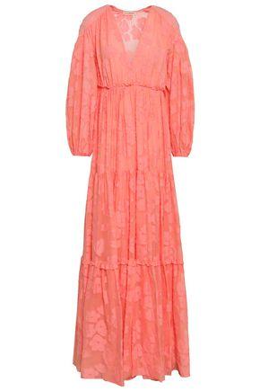 ULLA JOHNSON Margaux fil coupé silk and cotton-blend maxi dress