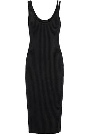 THE RANGE Cutout ribbed-knit dress
