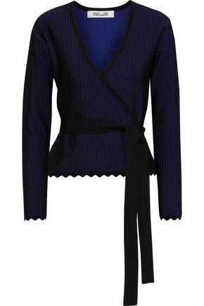 DIANE VON FURSTENBERG Laura ribbed jacquard-knit wrap top